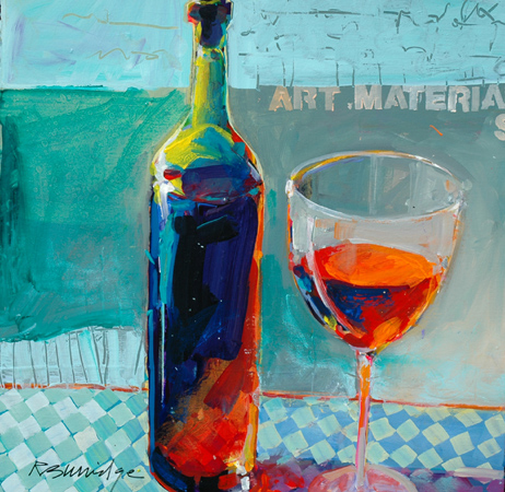 Let 39 s make a painting painting glass with robert burridge for Bottle painting materials