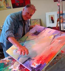 Robert burridge studio artsyfartsy newsletter article for Acrylic paint effects